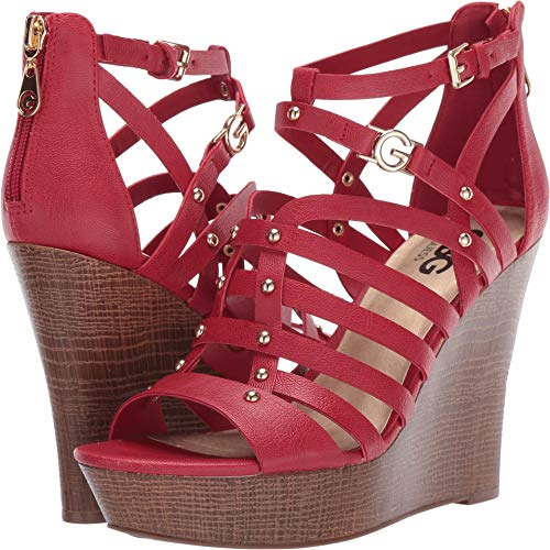 (G by GUESS Women's Dezzie Gingham Red 9.5 M US)