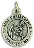 "Lot of 2 St. Saint Christopher/ US Air Force Medal 3/4"" Charm Pendant"
