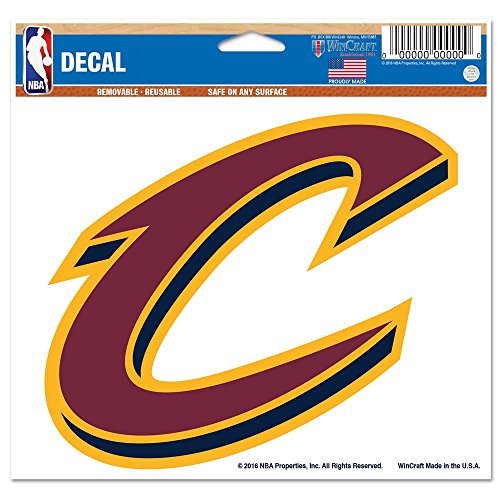 WinCraft NBA Cleveland Cavaliers 91380010 Multi-Use Colored Decal, 5