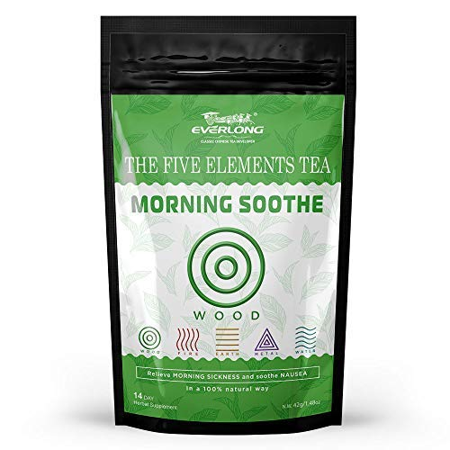 Morning Soothe Tea - Ease Pregnancy Morning Sickness, Relieve Nausea and Settle Upset Stomach, Relax Digestive Tract and Support Your Hormonal Transaction - Caffeine Free, Tasty and Easy Brewing (Best Cure For Upset Stomach And Vomiting)