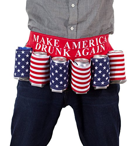 4th Of July Halloween Costumes - Novelty Beverage Holder Beer Belt (Drunk
