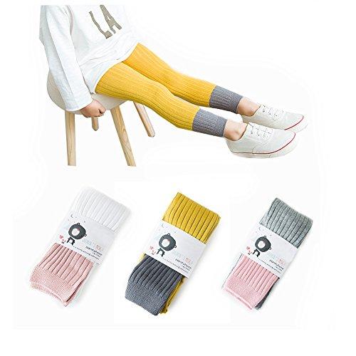 YallFairy Baby Girl Footless Leggings Pants Tights Warm Stockings For Toddler Kids (M(3-5 years)) -