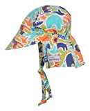 Flap Happy Baby Boys' UPF 50+ Original Flap Hat with Ties, Zoo Mania, XL