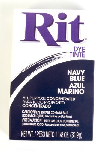Rit Concentrated Powdered Fabric Dye, Navy Blue 1.13 oz ( Pack of 3)