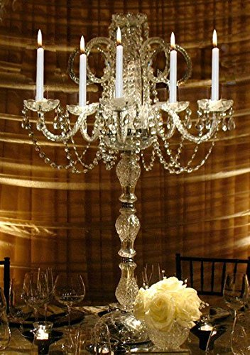 Chandelier centerpiece amazon set of 15 wedding candelabras candelabra centerpiece centerpieces great for special events set of 15 aloadofball Gallery