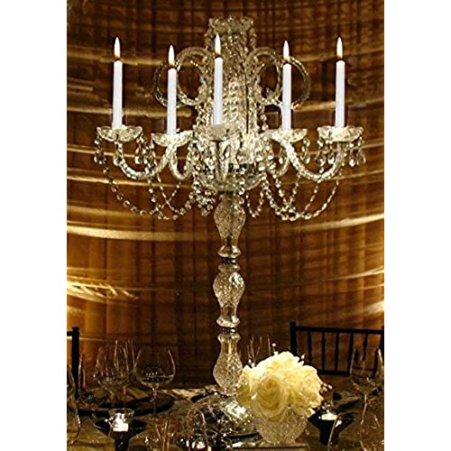 Chandelier centerpiece amazon set of 15 wedding candelabras candelabra centerpiece centerpieces great for special events set of 15 aloadofball Image collections