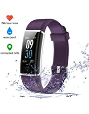 EUMI Fitness Tracker with Heart Rate Monitor, Colour Screen Activity Tracker Fitness Watch Waterproof IP68 Smart Bracelet Sleep Monitor Pedometer Watch Compatible with Android IOS