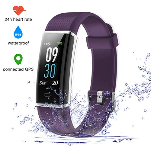 EUMI Fitness Tracker with Heart Rate Monitor, Colour Screen ...