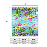 Watercolor Flowers Blossoms Butterfly Mailbox