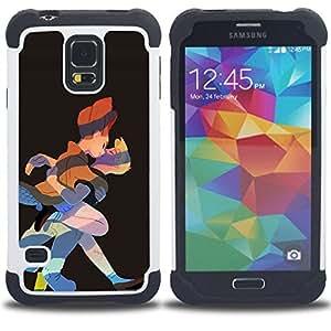 For Samsung Galaxy S5 I9600 G9009 G9008V - KISS FAIRY TALE PRINCE PRINCESS ART DRAWING Dual Layer caso de Shell HUELGA Impacto pata de cabra con im??genes gr??ficas Steam - Funny Shop -