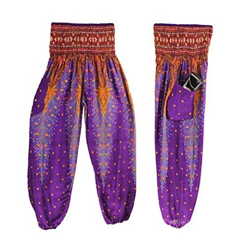 TAORE Leggings Men Women Thai Harem Smock High Waist Yoga Pants Boho Workout Capri Leggings, For Gym, Running, Yoga (Free Size, (Strap Smock)