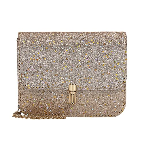 Clearance Sales Womens Girls Sequins Messenger Bags Afterso Fashion Crossbody Shoulder bags Casual Totes Purse Wallet Handbags Coin Phone Bag (19cm/7.5