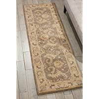 Nourison Jaipur (JA56) Taupe Runner Area Rug, 2-Feet 4-Inches by 8-Feet  (24 x 8)