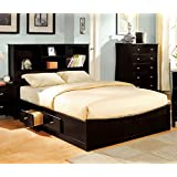 247SHOPATHOME IDF-7053Q Platform-Beds, Queen, Espresso