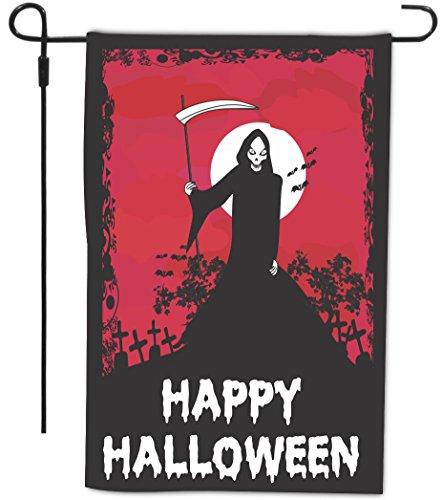 Happy Halloween Grim Reaper Black