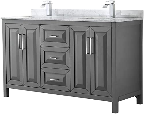 Wyndham Collection Daria 60 inch Double Bathroom Vanity