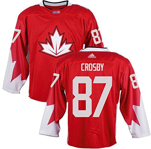 Custom Men's Crosby #87 Canada 2016 World Cup of Hockey Jersey XXL Red
