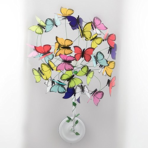 Sconce with butterflies and small sprouts,butterfly butterflies decor,kids decor,multicolor,kids room, nursery,baby girl decor bedroom