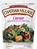 Chatham Village Caesar Style Croutons, 5-Ounce Bags (Pack of 12)
