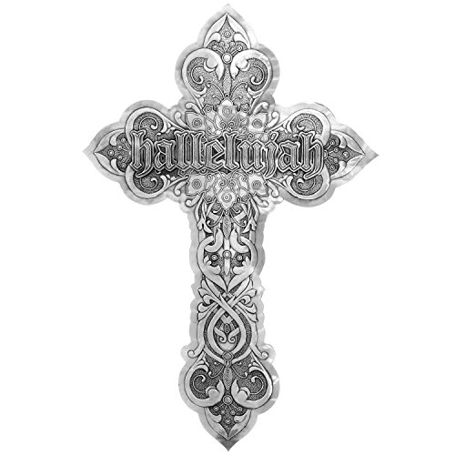 Wendell August Hallelujah Messiah Aluminum Wall Cross, Featuring Baroque-Period Etchings and Symbol of Handel's Prophecy, Makes a Beautiful, Unique Gift for The Holidays and ()