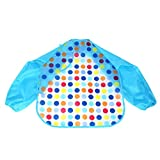Mandystore Baby Toddler Bib Kids Boys Girls Long Sleeve Waterproof Feeding Art Apron Bib Smock (# 14)