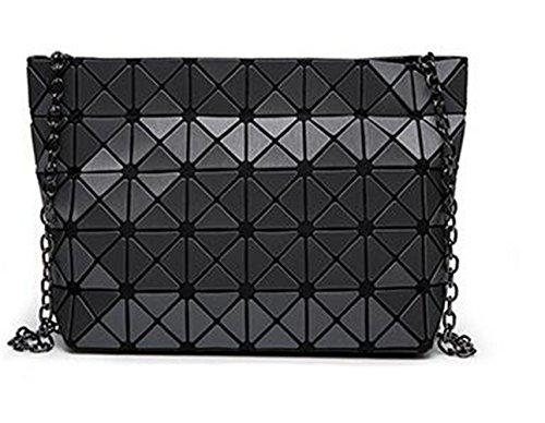 Clutch Gray Bag Color Bag Handbag 5 Lattic 8 Geometric Bag Chain Crossbody Women Matt AHCTqwC
