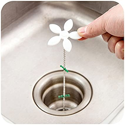 10pcs baño ducha drenaje limpiador de cadena de peluca de pelo Clog Remover herramienta de limpieza