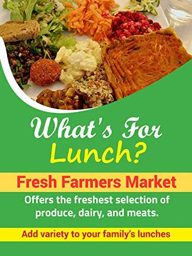 What's For Lunch Fresh Farmers Market Display Retail Sign18w x 24hFull Color 5 Pack [並行輸入品] B07K9RL9JN