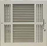 Three-way Steel Ceiling/sidewall register 12'' X 12''