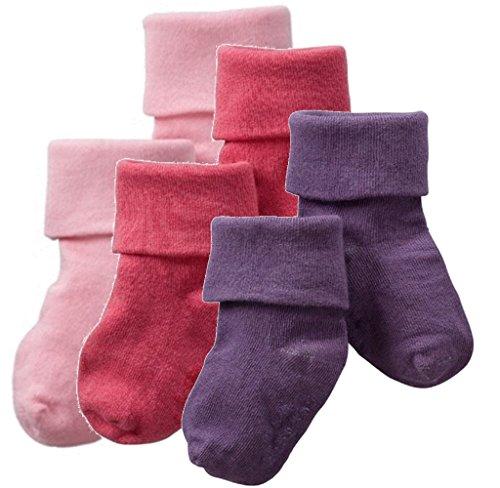Babysoy Baby Little Girl Sock Set (12-24 Months, (Blossom Socks)