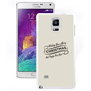 Fashionable Custom Designed Samsung Galaxy Note 4 N910A N910T N910P N910V N910R4 Phone Case With Wishing You A Merry Christmas And Happy New Year_White Phone Case