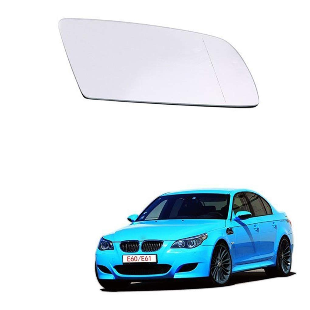 Flushzing Wei/ß rechts Beifaherseite Car-Styling-R/ückseitenspiegel Glaslinse Ersatz f/ür BMW E60 E61 04-08 51167065082