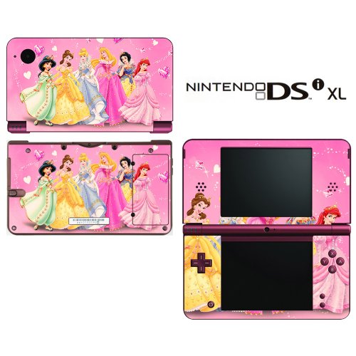 Princess Friends Pink Jasmine Cinderalla Snow White Decorative Video Game Decal Cover Skin Protector for Nintendo DSi XL