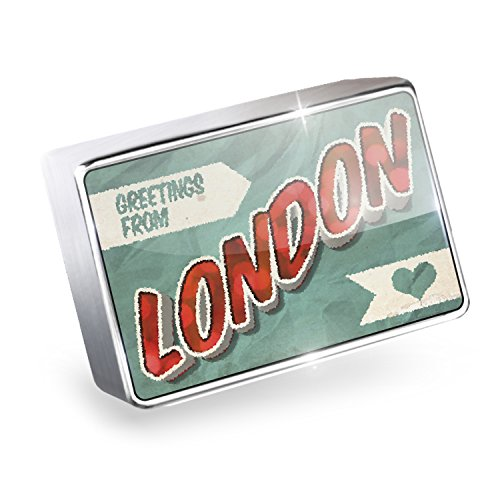 Floating Charm Greetings from London, Vintage Postcard Fits Glass Lockets, - Glasses London Vintage