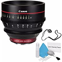 Canon CN-E 85mm T1.3 L F Cine Lens (International Model no Warranty) + Deluxe Cleaning Kit + Lens Cap Keeper 6AVE Bundle 2