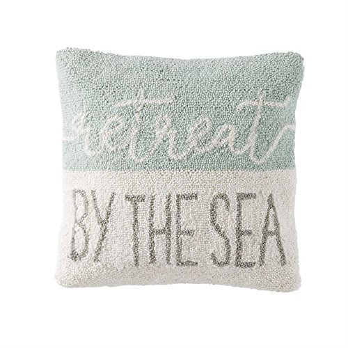 Mud Pie Retreat By The Sea Wool Hooked Throw Pillow Covers [並行輸入品] B07RBDNW6C