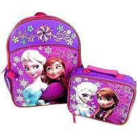 Mochila Disney Frozen con juego de loncheras a juego con Anna y Elsa