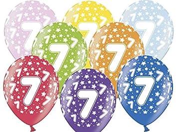 12 Globos 30 cm 7º cumpleaños - cumpleaños Infantiles Globo ...