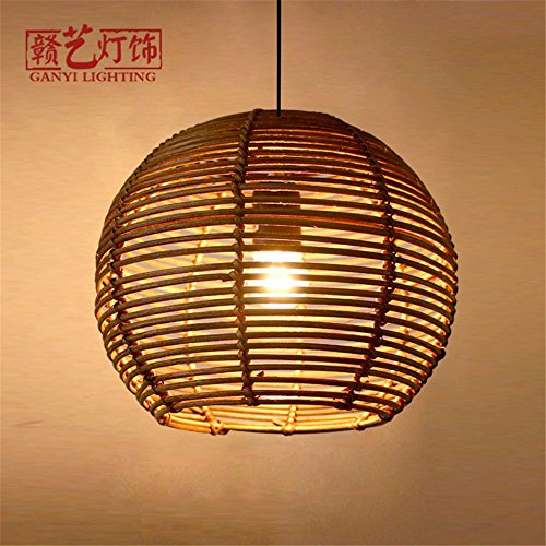 Chandelier,Modern LED Pendant Light Chandelier LED Pendant Lighting Apply to Contemporary Wicker and Rattan lamp Chandelier lamp Bamboo and Rattan Cane to manually Light Chandeliers 260220MM Works.