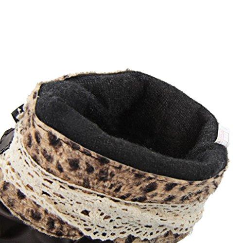 Scarpe Da Donna Alte In Camoscio Con Tacco Alto In Camoscio E Zeppa Scarpe Calde Per Le Donne Stivali Invernali Neri Con Pelliccia