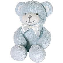Stephan Baby Super Soft 12-Inch Shaggy Terry Plush Floppy Bear, Blue
