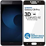 Kavacha (TM) 3D Edge to Edge Full Front Body Cover Tempered Full Glass Screen Guard for Samsung Galaxy C9 Pro