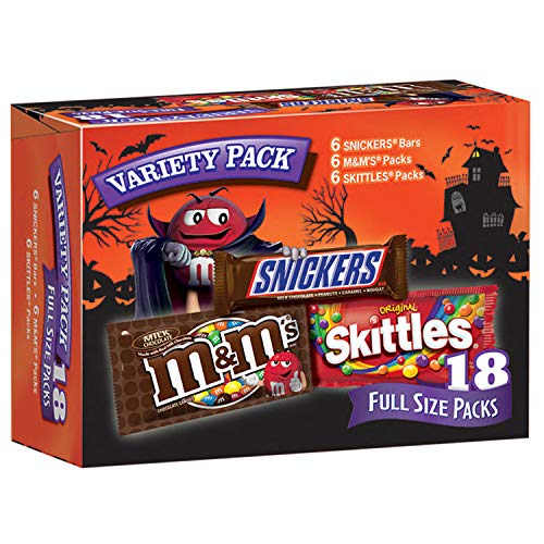 MARS Chocolate and More Full Size Halloween Candy Variety Mix 18-Count Box