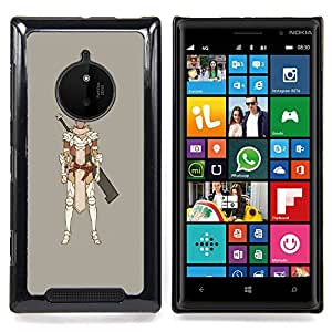 /Skull Market/ - Samurai Computer Game Swordsman For Nokia Lumia 830 - Mano cubierta de la caja pintada de encargo de lujo -