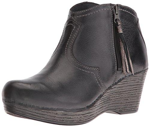 Dansko Women's Veronica Ankle Bootie, Black Distressed, 36 EU/5.5-6 M US by Dansko