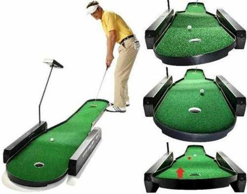 Indoor Putting Green /Ultimate Challenge/ Patented 72 Automatic Changing Putting Contours /Realistic Green Feel /Four 18-Hole courses on two skill levels. Patented Technology