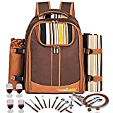 Picnic Backpack Bag for 4 Person With Cooler