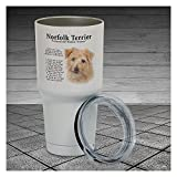 30 Ounce Tumbler Norfolk Terrier Trainer Tumbler Cup Pet Lover Gift, Dog Lover Gift, Gift For Her, Gift For Him, Work Cup