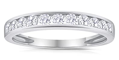 aba1a17ddb 1/2ctw Diamond Channel Wedding Band in 10k White Gold