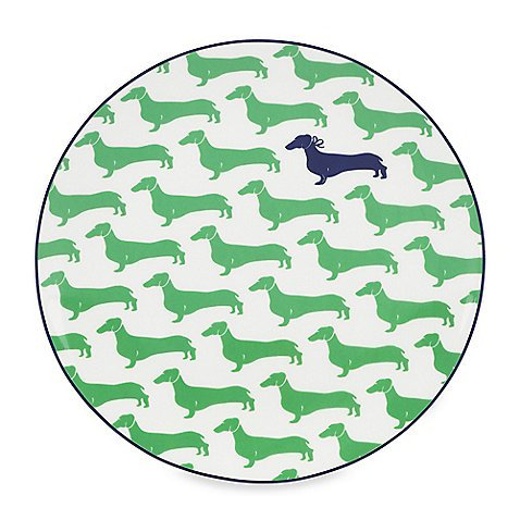 Kate Spade New York 836050 Wickford Dachshund Accent Plate, ()